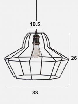 چراغ آویز میله ای نهالسان مدل پامچال