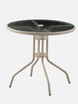 میز فلزی جا چتری دار نگین
