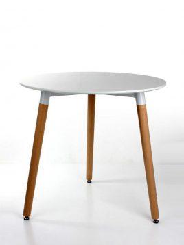 میز پایه چوبی دایره نگین