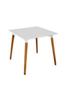 میز پایه چوبی مربع نگین