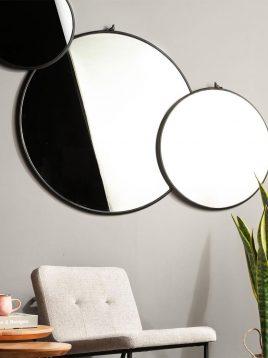 آینه فلزی گرد سان هوم مدل W7900