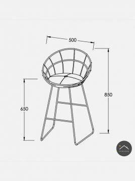 صندلی فلزی بار و اپن  مدل H1901