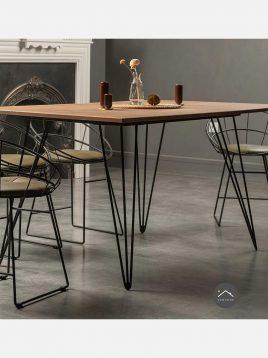 ست میز و صندلی ناهارخوری شش نفره چوبی H
