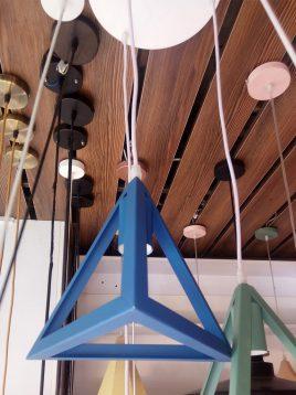 چراغ آویز مدرن تک شعله مدل هرمی