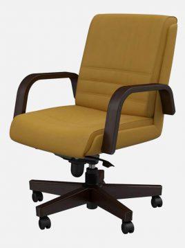 صندلی کارشناسی جکدار اروند با مکانیزم با دسته و پایه چوبی کد ۳۳۱۸