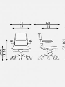 صندلی کارشناسی جکدار اروند مدل ۴۴۱۲
