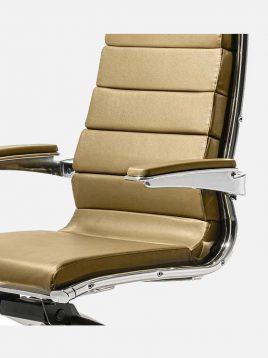 صندلی مدیریت جکدار اروند با مکانیزم با روکش چرمی کد ۴۴۱۴