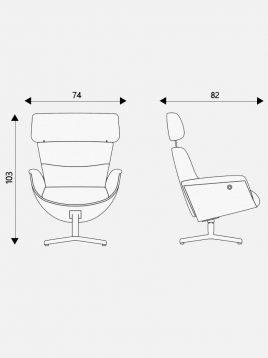 صندلی مدیریتی اروند مدل اولوشن به همراه زیرپایی
