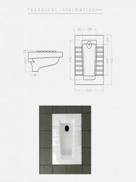 توالت زمینی گلسار مدل آستر