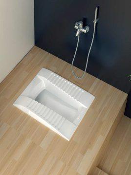 توالت زمینی گلسار مدل لوسیا
