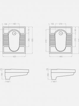 توالت زمینی گلسار مدل نیلوفر