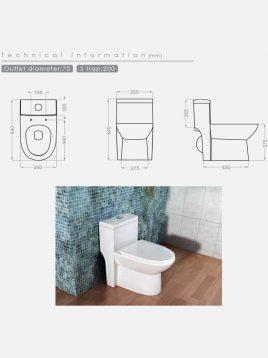 توالت فرنگی گلسار مدل لوسیا