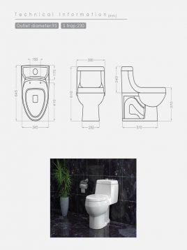 توالت فرنگی زمینی گلسار مدل مارانتا