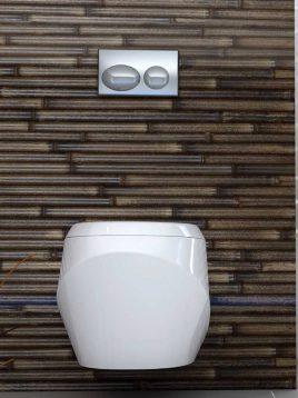 دستشویی فرنگی دیواری گلسار مدل اورینت