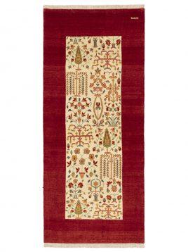 heidarian carpet bakhtiyari nobaft carpet bagh bakhtiyari C model1 268x358 - قالی بختیاری نوبافت حیدریان مدل باغ بختیاری زمینه قرمز