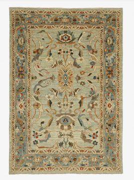 heidarian carpet soltanabad nobaft carpet afshan A model1 268x358 - قالی سلطان آباد نوبافت حیدریان مدل افشان زمینه آبی و کرم