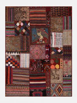 heidariancarpet Fortypieces carpet vintej pachorak C model1 268x358 - قالی چهل تکه وینتچ حیدریان مدل پچورک C