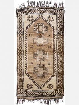heidariancarpet ghashghaei vintej carpet sholi B model1 268x358 - قالی قشقایی وینتج حیدریان مدل شولی زمینه کرم تیره