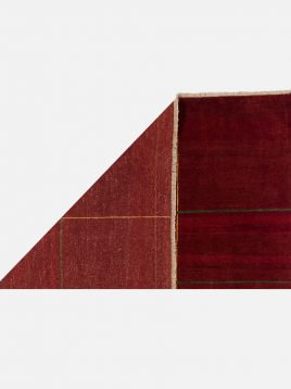 گبه نوبافت مدرن حیدریان مدل خطی زمینه قرمز
