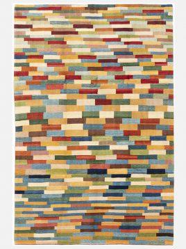 heidariancarpet rugs NEWTEXURE kheshtiA model1 268x358 - گبه نوبافت حیدریان مدل خشتی زمینه الوان