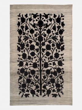 heidariancarpet rugs morvarid model3 268x358 - گلیم فرش سوزنی حیدریان مدل مروارید مشکی