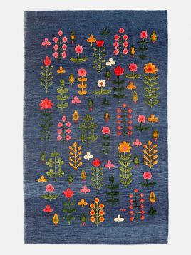 heidariancarpet rugs morvaridB model1 268x358 - گلیم فرش سوزنی حیدریان مدل مروارید زمینه سرمه ای