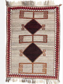 heidariancarpet shiraz vintej rugs do toranj model1 268x358 - گبه شیراز وینتج حیدریان مدل دو ترنج