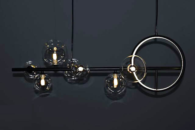 voodoohome modern chandeliers model VL2205 0 - لوستر کانتر مدرن وودوهوم مدل VL2205 -  - shaded-chandeliers