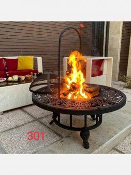 آتشدان هیزمی مدل مینیاتور پایه کوتاه کد ۳۰۱