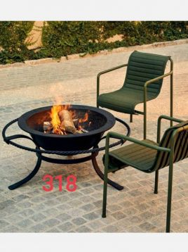 parsi industrial group firepit Pulley 318 model1 268x358 - آتشدان هیزمی مدل پایه قوس دار لوله ای کد ۳۱۸