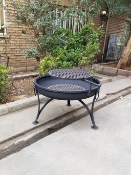 parsi industrial group firepit circle 314 model1 268x358 - آتشدان هیزمی مدل گرد سه پایه قوس دار کد ۳۱۴