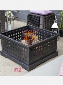 آتشدان هیزمی مدل چهارگوش لیزری کد ۳۱۲