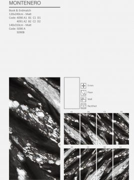کاشی اسلب میکل آنجلو مدل monte nero