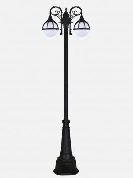 bitanoor post lighting diana bi 602313 model1 268x358 - چراغ  پارکی دوشاخه بیتانور مدل دیانا  Bi-602313