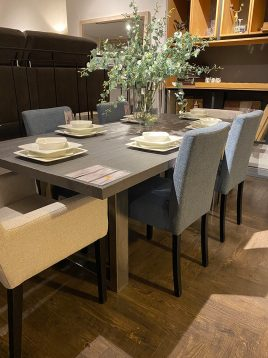 tolica steel base wooden dining table model chilan 1 268x358 - میز ناهارخوری چوبی پایه فلزی تولیکا مدل چیلان